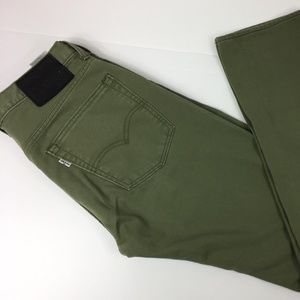 LEVI MEN'S 513 JEANS Size 31X32  Olive Green